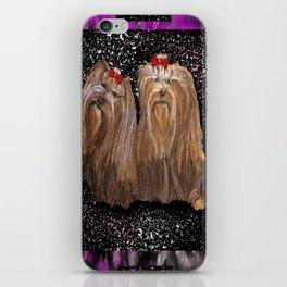 Yorkie Love in Black iPhone Skin
