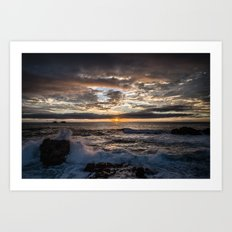 California Coast Sunset Art Print