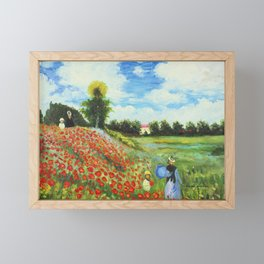 Claude Monet - Poppy Field at Argenteuil Framed Mini Art Print