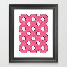 Coconuts memphis pattern retro 80s throwback style classic tropical summer vibes Framed Art Print