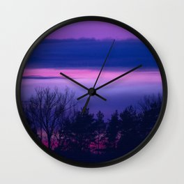 violet forest Wall Clock