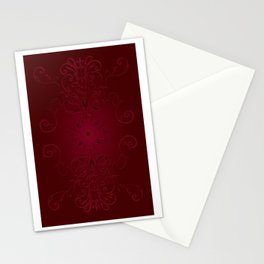 Red Leaf Mandala Stationery Cards