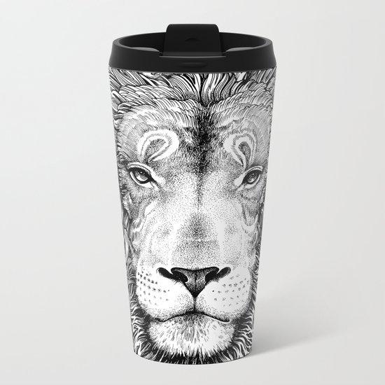 king of the jungle Metal Travel Mug