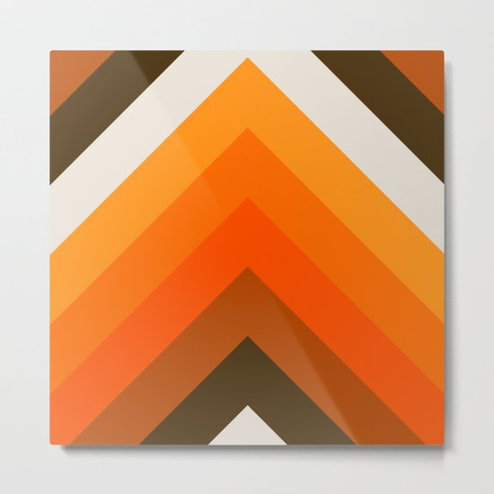 Golden Thick Angle Metal Print