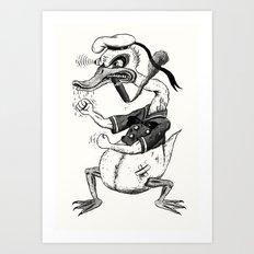 Rage-aholic Duck Art Print