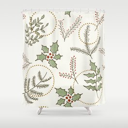 Classic Winter #society6 #xmas Shower Curtain