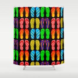 flip flop pattern Shower Curtain