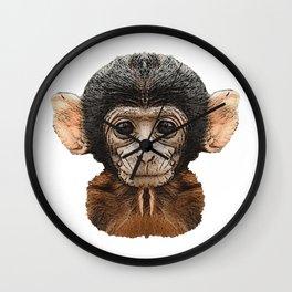 Baby monkey canvas, baby animals, animals Wall Clock