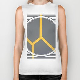 To Bee or Not - line graphic Biker Tank