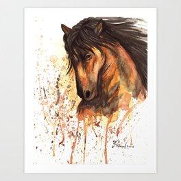 A good horse Art Print