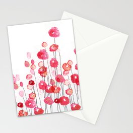 Poppies in Pink Stationery Cards