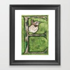 E is for 'Elepiao Framed Art Print