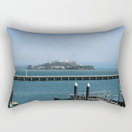 Alcatraz On A Foggy Morning Rectangular Pillow