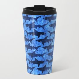 Sharks in the Blue, Blue Sea Travel Mug