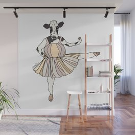 Cow Ballerina Tutu Wall Mural