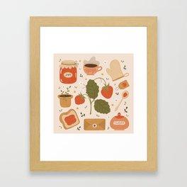 Strawberry Jam Framed Art Print