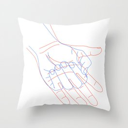 Open & Close Throw Pillow