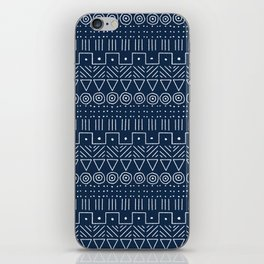Mudcloth Style 1 in Navy iPhone Skin
