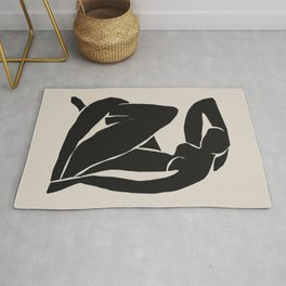 Black Nude Woman  Rug