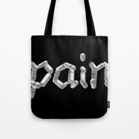 pain Tote Bags featuring Pain by Emma Harckham