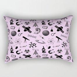 Symbols of Science // Light Pink Rectangular Pillow