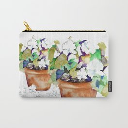 Pots of Petunias Carry-All Pouch