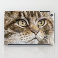 maine iPad Cases featuring Maine Coon  by S-Schukina