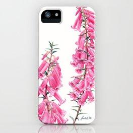 Pink Heath Botanical iPhone Case