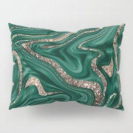Emerald Green Black Gold Glitter Marble #1 #decor #art #society6 Pillow Sham