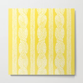 Cable Row Yellow Metal Print