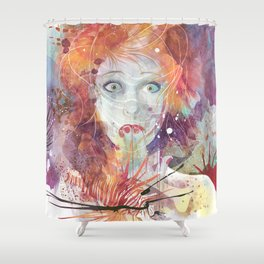 Good Intentions V2 Shower Curtain