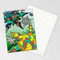 Snowflakes Cubism Stationery Cards