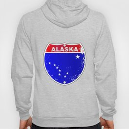 Alaska Interstate Sign Hoody