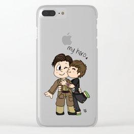 Dunkirk Boy Clear iPhone Case