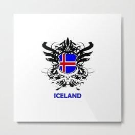 Iceland Uefa Euro 2016 Metal Print