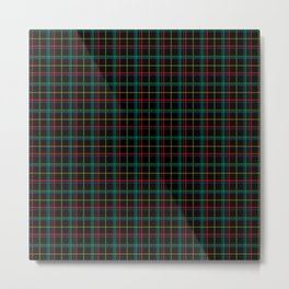 Red and green plaid Metal Print