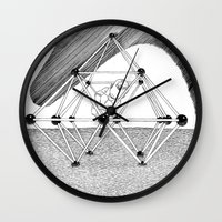 ohm Wall Clocks featuring Ohm. by Samuel Guerrero