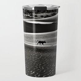 Walking alone through the desert of life Travel Mug