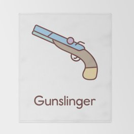 Cute Dungeons and Dragons Gunslinger class Throw Blanket