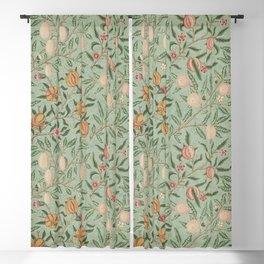 William Morris Vintage Fruit Sage Green  Blackout Curtain