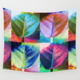Abstract Leaf Colors Wall Tapestry