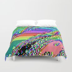 Equatorial Rainbow (Glitch Art / Pixel) Duvet Cover