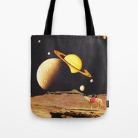 western Tote Bags featuring Western Space by Mariano Peccinetti
