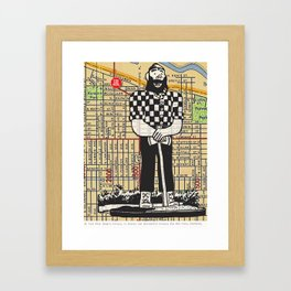 Paul Bunyan, North Denver at Interstate Avenue, You Are Here, Portland. Framed Art Print