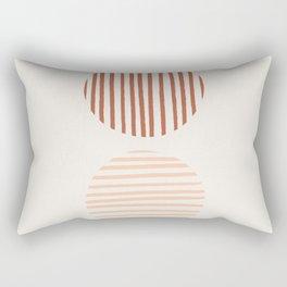 Terra Lined Circles Rectangular Pillow