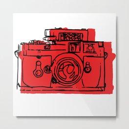 Click Click Red Metal Print