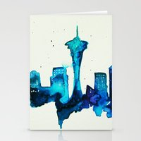 seattle Stationery Cards featuring Seattle  by Talula Christian