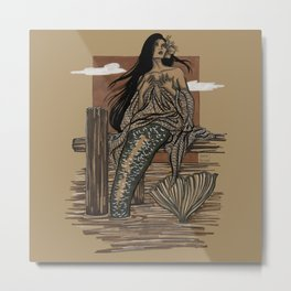 Mermaid Folies 9 Metal Print