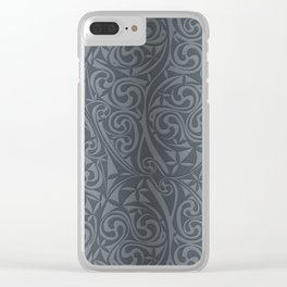Celtic Warlord steel Clear iPhone Case