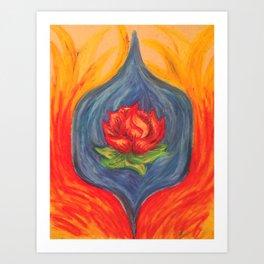 Water Flower Fire Art Print